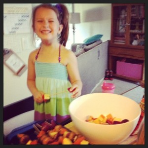 this one was blurry but so cute of my kitchen helper